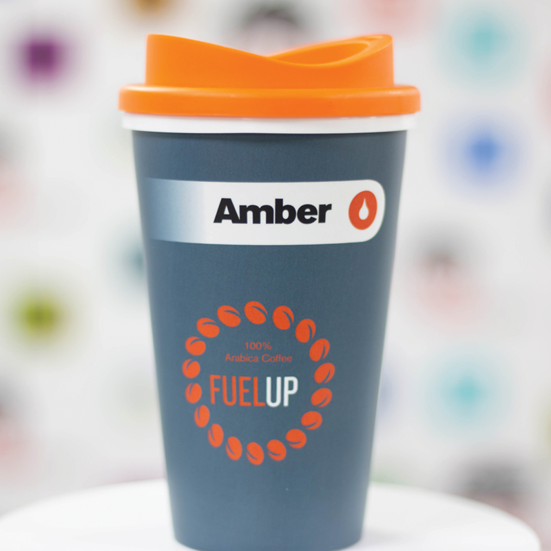 Orange and Grey Reusable Cup